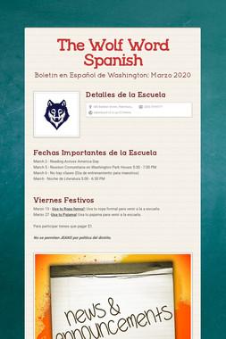 The Wolf Word Spanish