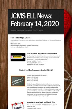 JCMS ELL News: February 14, 2020