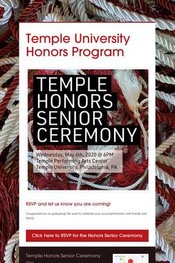 Temple University Honors Program