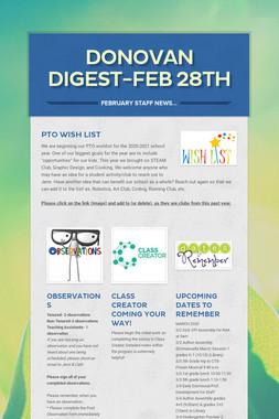 Donovan Digest-Feb 28th