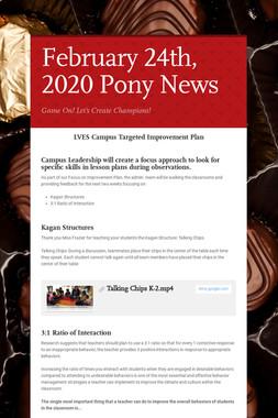 February 24th, 2020 Pony News