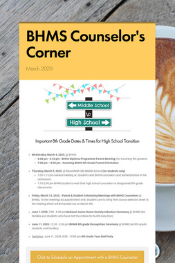 BHMS Counselor's Corner