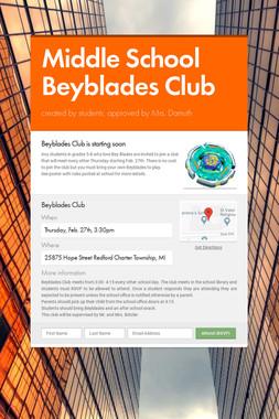 Middle School Beyblades Club