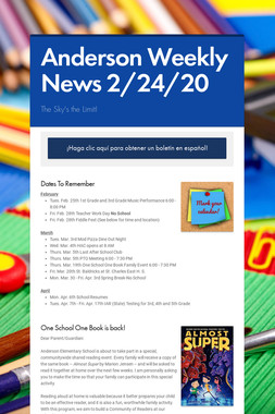 Anderson Weekly News 2/24/20
