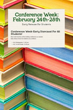 Conference Week: February 24th-28th