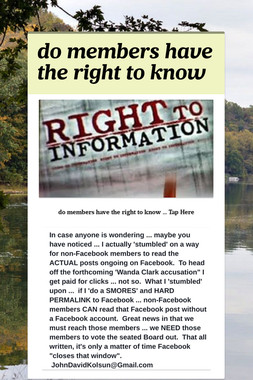 do members have the right to know