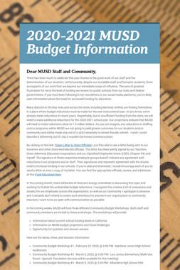 2020-2021 MUSD Budget Information