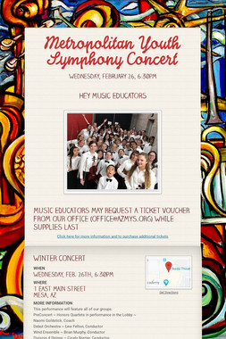 Metropolitan Youth Symphony Concert