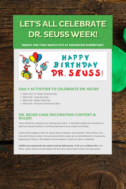 LET'S ALL CELEBRATE DR. SEUSS WEEK!