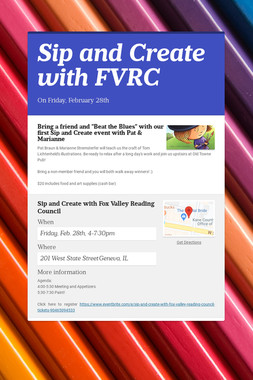 Sip and Create with FVRC