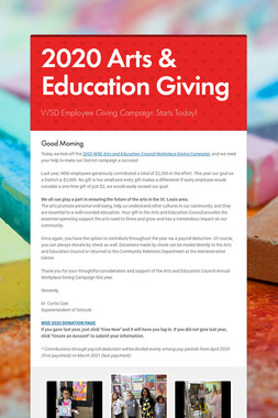 2020 Arts & Education Giving