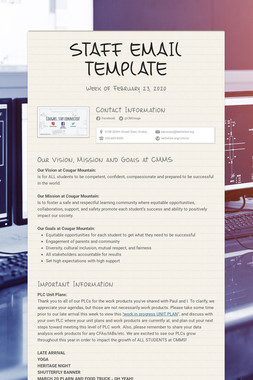 STAFF EMAIL TEMPLATE