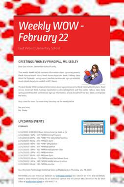 Weekly WOW - February 22