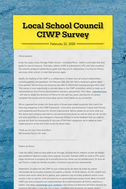 Local School Council CIWP Survey