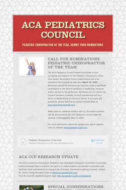 ACA Pediatrics Council