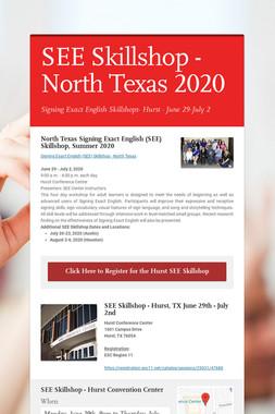 SEE Skillshop - North Texas 2020