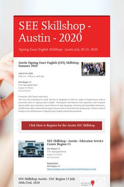 SEE Skillshop - Austin - 2020