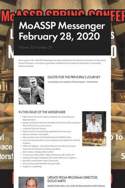 MoASSP Messenger February 28, 2020