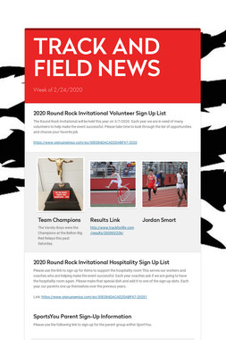 TRACK AND FIELD NEWS