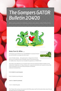 The Gompers GATOR Bulletin 2/24/20