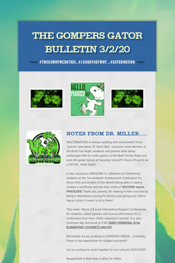 The Gompers GATOR Bulletin 3/2/20