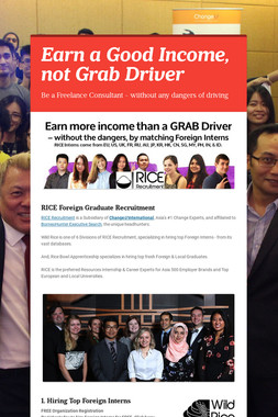 Earn a Good Income, not Grab Driver