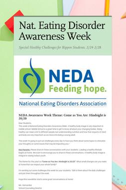 Nat. Eating Disorder Awareness Week