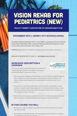 Vision Rehab for Pediatrics