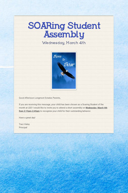SOARing Student Assembly