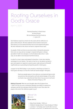 Rooting Ourselves in God's Grace
