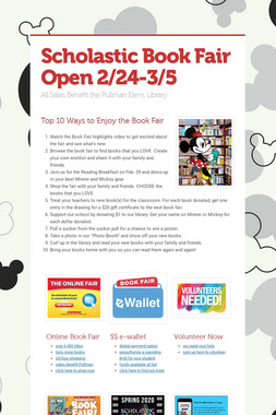 Scholastic Book Fair Open 2/24-3/5