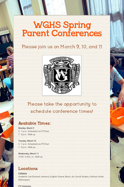 WGHS Spring Parent Conferences