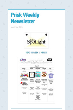 Prisk Weekly Newsletter