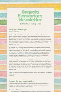 Sequoia Elementary Newsletter