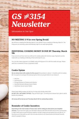 GS #3154 Newsletter