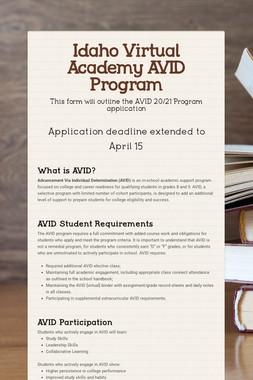 Idaho Virtual Academy AVID Program