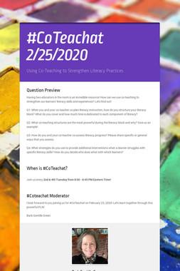 #CoTeachat   2/25/2020