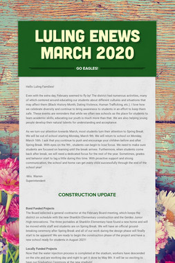 LULING ENEWS MARCH 2020