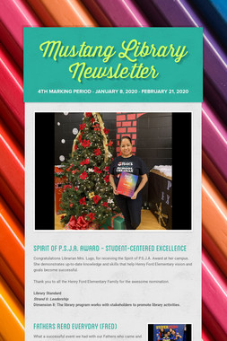 Mustang Library Newsletter
