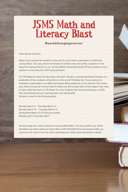 JSMS Math and Literacy Blast