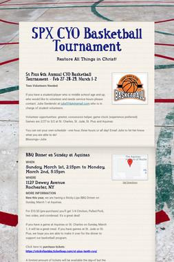 SPX CYO Basketball Tournament