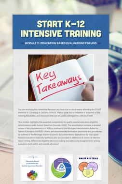 START K-12 Intensive Training