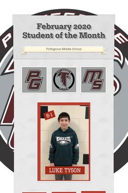 February 2020 Student of the Month
