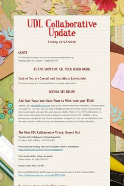 UDL Collaborative Update