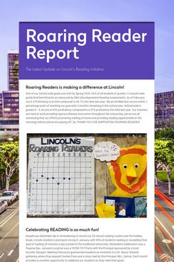 Roaring Reader Report