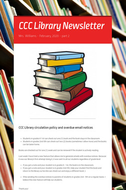 CCC Library Newsletter