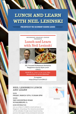 Lunch and Learn with Neil Lesinski