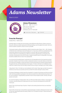 Adams Newsletter