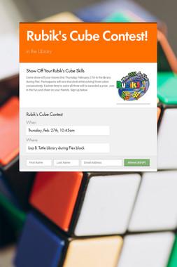 Rubik's Cube Contest!