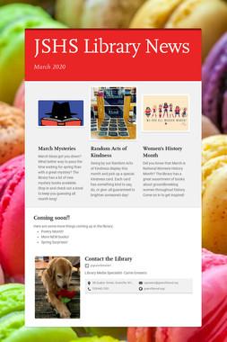 JSHS Library News
